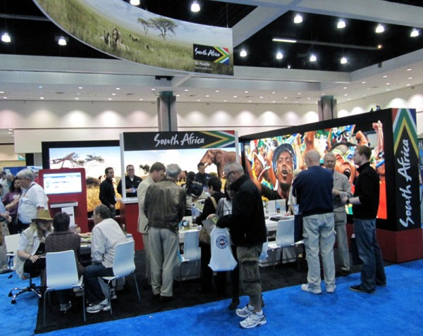 South Africa Booth at LA Times Travel Show by Melanie Wynne