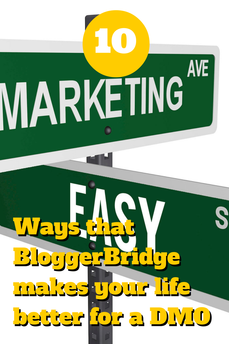 10 Ways that BloggerBridge makes your life better for a DMO